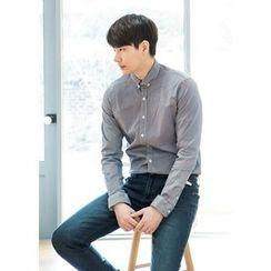 GERIO - Long-Sleeve Stripe Shirt