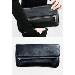 INSTYLEFIT - Faux-Leather Clutch with Strap