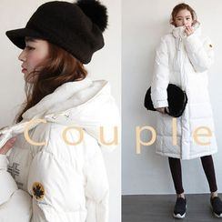 NIPONJJUYA - Couple Hooded Duck-Down Padded Long Coat