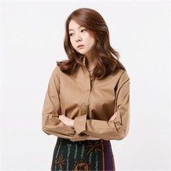 MAGJAY - Plain Long-Sleeve Shirt