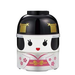 Hakoya - Hakoya Large Kokeshi 2 Layers Lunch Box Maihime