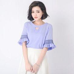 Tokyo Fashion - Short-Sleeve Cutout Top