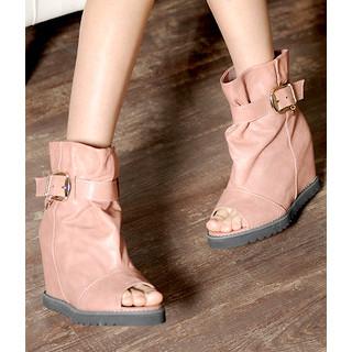 yeswalker - Open-Toe Hidden Wedge Boots