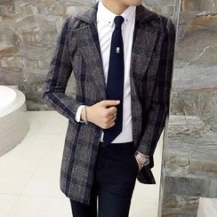 Bay Go Mall - Plaid Single-Breasted Blazer