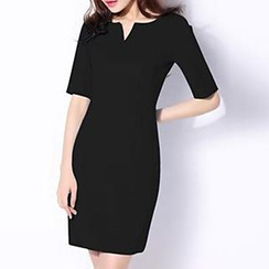 Hazie - Elbow-Sleeve Sheath Dress