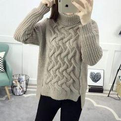 LOFT - Plain Turtleneck Cable Knit Sweater