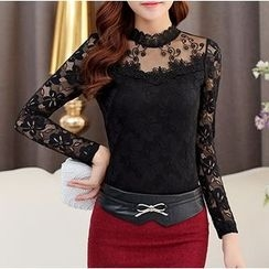 Sienne - Long-Sleeve Lace Top