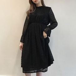 Cloud Nine - Lace A-Line Midi Dress