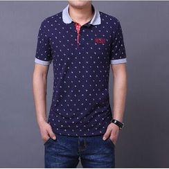 JIBOVILLE - Anchor Patterned Polo Shirt