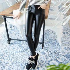 Tokyo Fashion - Faux-Leather Leggings