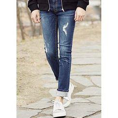 JOGUNSHOP - Distressed Slim-Fit Jeans