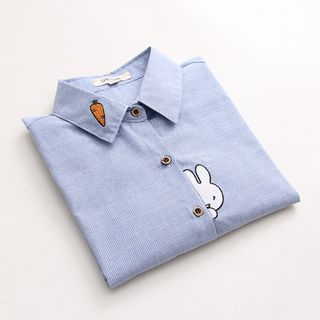 Vateddy - Bunny Embroidered Shirt