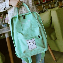 Bagolo - Canvas Cat Print Backpack
