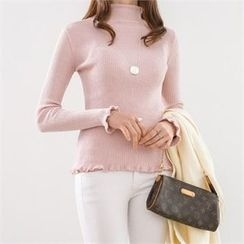 PEPER - Turtle-Neck Rib-Knit Top