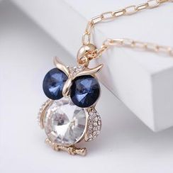 Best Jewellery - Crystal Owl Long Necklace