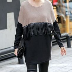 Jolly Club - Fringed Color-Block Pullover