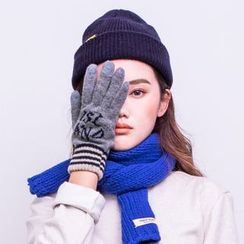 iswas - 'Nordic Island' Series Striped Gloves