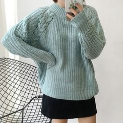 Dute - Lace-Up Sweater
