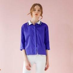 Tokyo Fashion - Striped-Collar Blouse