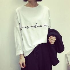 A7 SEVEN - Embroidered Long-Sleeve T-shirt