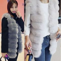 Seoul Fashion - Faux-Fur Open-Front Vest