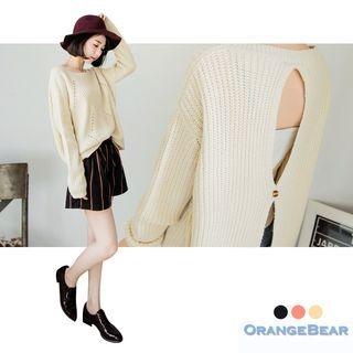 OrangeBear - Cutout-Back Sweater