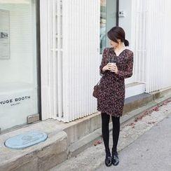 mimi&didi - Flower Patterned Chiffon A-Line Dress