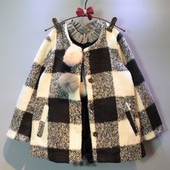 Spring Swallow - Kids Plaid Coat