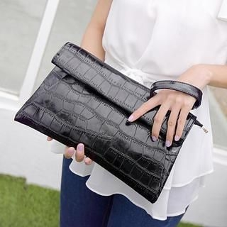 Youshine - Croc-Grain Patent Clutch
