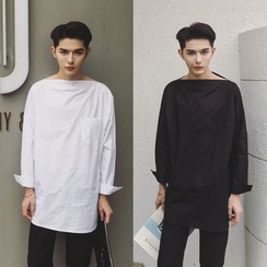 Simsam - Long-Sleeve Plain Shirt