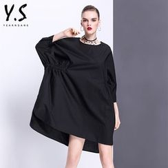 Y:Q - Batwing-Sleeve Shift Dress