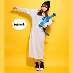Mozoo - 长袖T恤中长裙