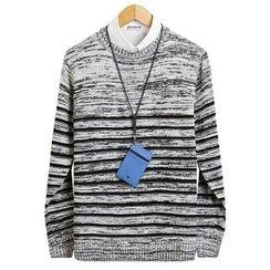 Seoul Homme - Stripe Knit Top