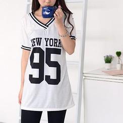 59 Seconds - Lettering Print T-Shirt Dress