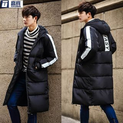 AOBIN - Lettering Hooded Padded Coat