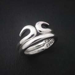 Sterlingworth - Set of 2: Sterling Silver Rings