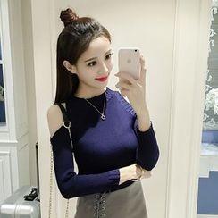 Ashlee - 露肩針織上衣