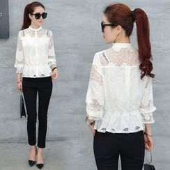 Ekim - Lace Panel Blouse