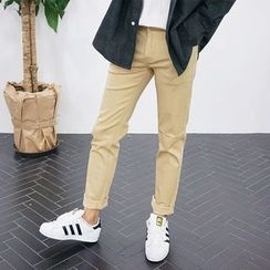 Seoul Homme - Colored Flat-Front Pants