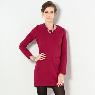 YesStyle Z - Dual Pocket Shift Dress