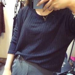 Shimi - Long Sleeve Ribbed T-Shirt