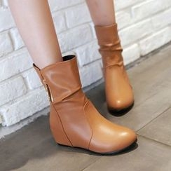 Pastel Pairs - Hidden Wedge Ankle Boots