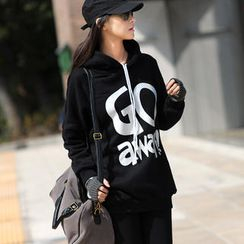 SO Central - Drop-Shoulder Print Hooded Pullover