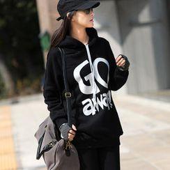 SO Central - Drop-Shoulder Print Hooded Pullover