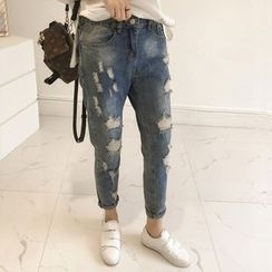 Little V - Ripped Harem Jeans