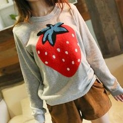 微米家 - 草莓贴布绣卫衣