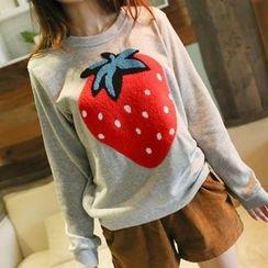 Wimi girls - Strawberry Applique Sweatshirt