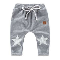 DEARIE - Kids Star Applique Harem Pants