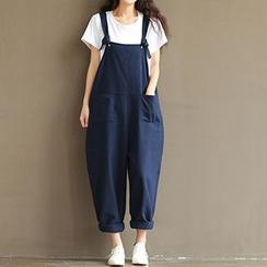 chome - 純色背帶褲