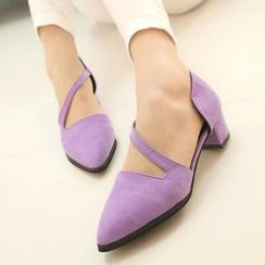 QQ Trend - Pointy Cutout Pumps